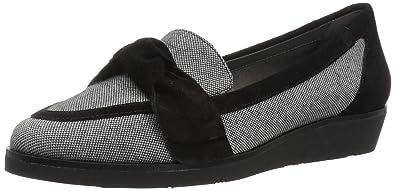 Aerosoles Women's Sidewalk Loafer, Black Combo, ...
