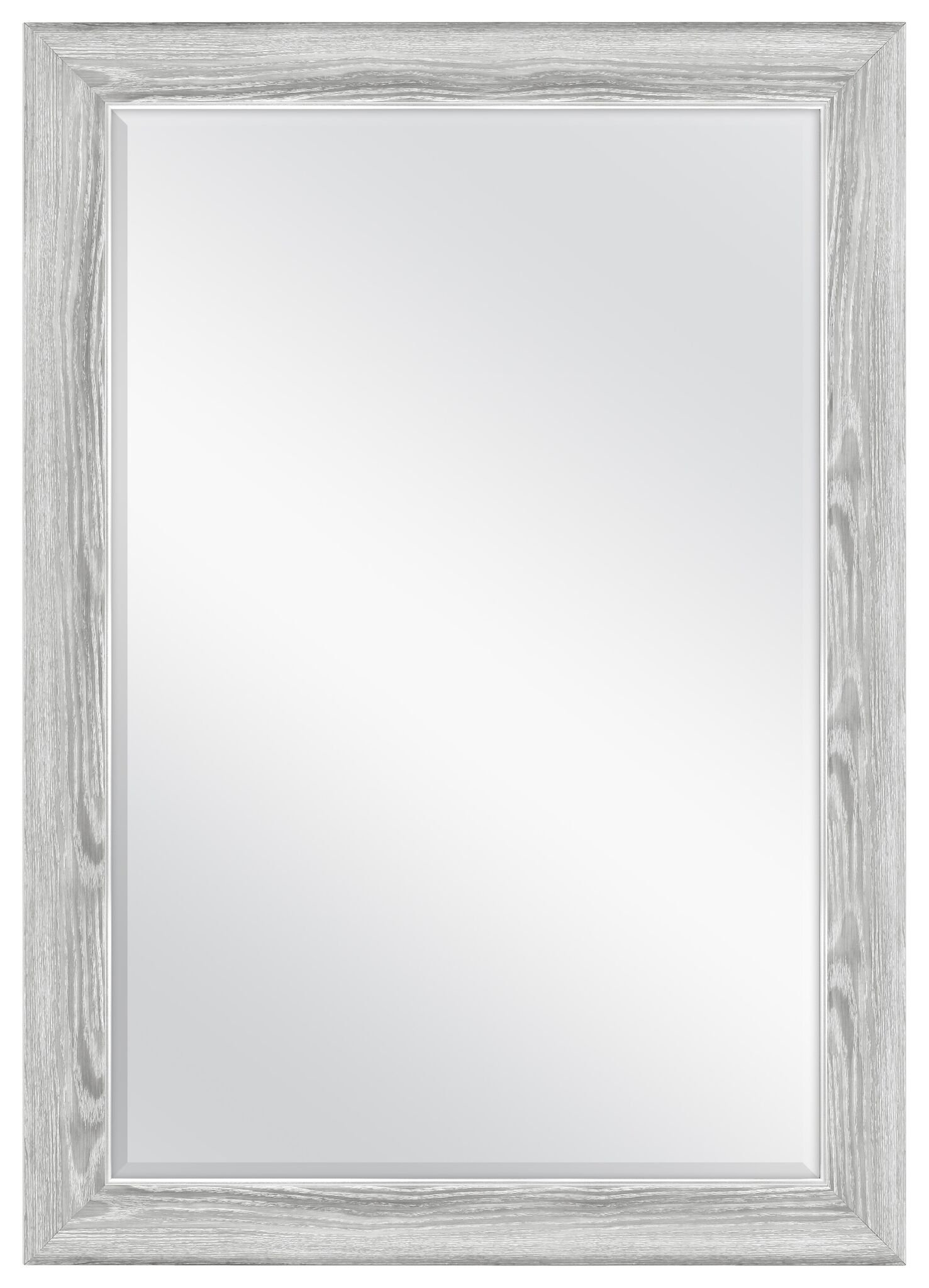 MCS 66949 24x36 inch Curvature Mirror, 29.5x41.5 Overall Size, 24x36, Gray Woodgrain
