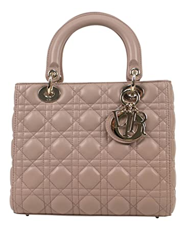 c34a8714ef Amazon.com: Christian Dior 'Lady Dior' Pink Cannage Leather Handbag ...