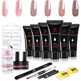 Makartt Poly Nail Extension Gel, 15ML Nude Nature Nail Extension Gel with Slip Solution Nail Art Equipment Set for…