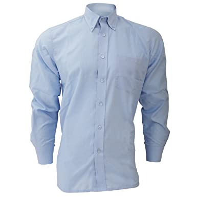 Dickies Long Sleeve Cotton/Polyester Oxford Shirt / Mens Shirts at ...