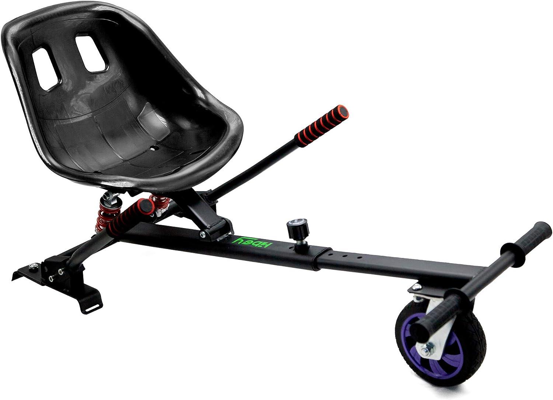 Hiboy Kart-0105 Asiento Kart Pro, Silla de Hoverboard Todoterreno con suspensiones Self Balancing Compatible con Todos los Patinetes Eléctricos DE 6.5, 8 y 10 Pulgadas, Negro, Niños, Aplica