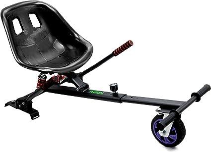Hiboy Kart-0105 Asiento Kart Pro, Silla de Hoverboard Todoterreno con suspensiones Self Balancing Compatible con Todos los Patinetes Eléctricos DE 6.5, 8 y 10 Pulgadas, Negro, Niños, Aplica: Amazon.es: Deportes y aire libre
