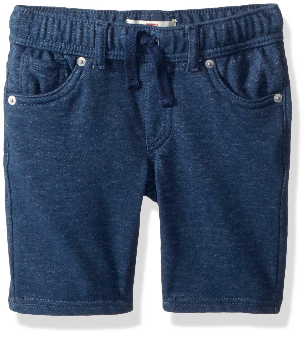 Levi's Boys' Toddler Soft Knit Jogger Shorts, Insignia Blue, 3T