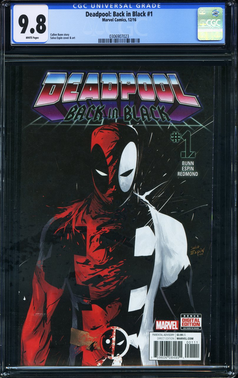 Deadpool Back in Black #1 - CERTIFIED CGC 9.8 Venom