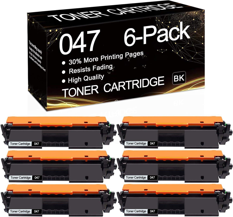 047 Compatible Toner Cartridge Replacement for Canon ImageCLASS MF113W LBP113W MF110//LBP110 i-SENSYS MF113W LBP113W MF110//LBP110 Printer,Sold by SinaToner. 6-Pack Black