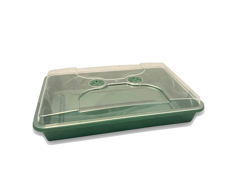 EarlyGrow MPL50086 Large Shallow Propagator 58cm x 38cm x 12cm - Green Malton Plastics (UK) Ltd.