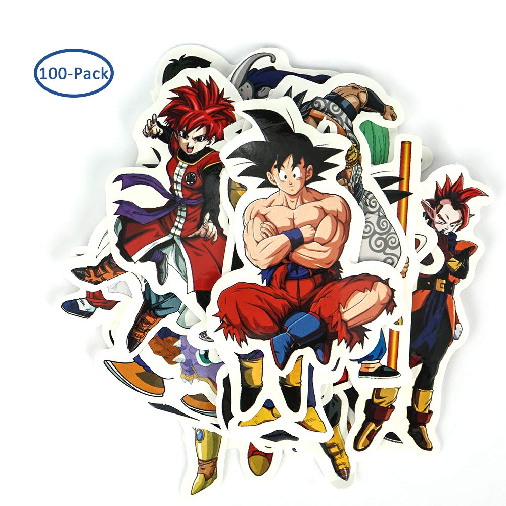 Merssyria cool dragon ball z vinyl laptop decals custom dbz sticker sheet cute anime decals clear stickers water resistant easy peel for no mess