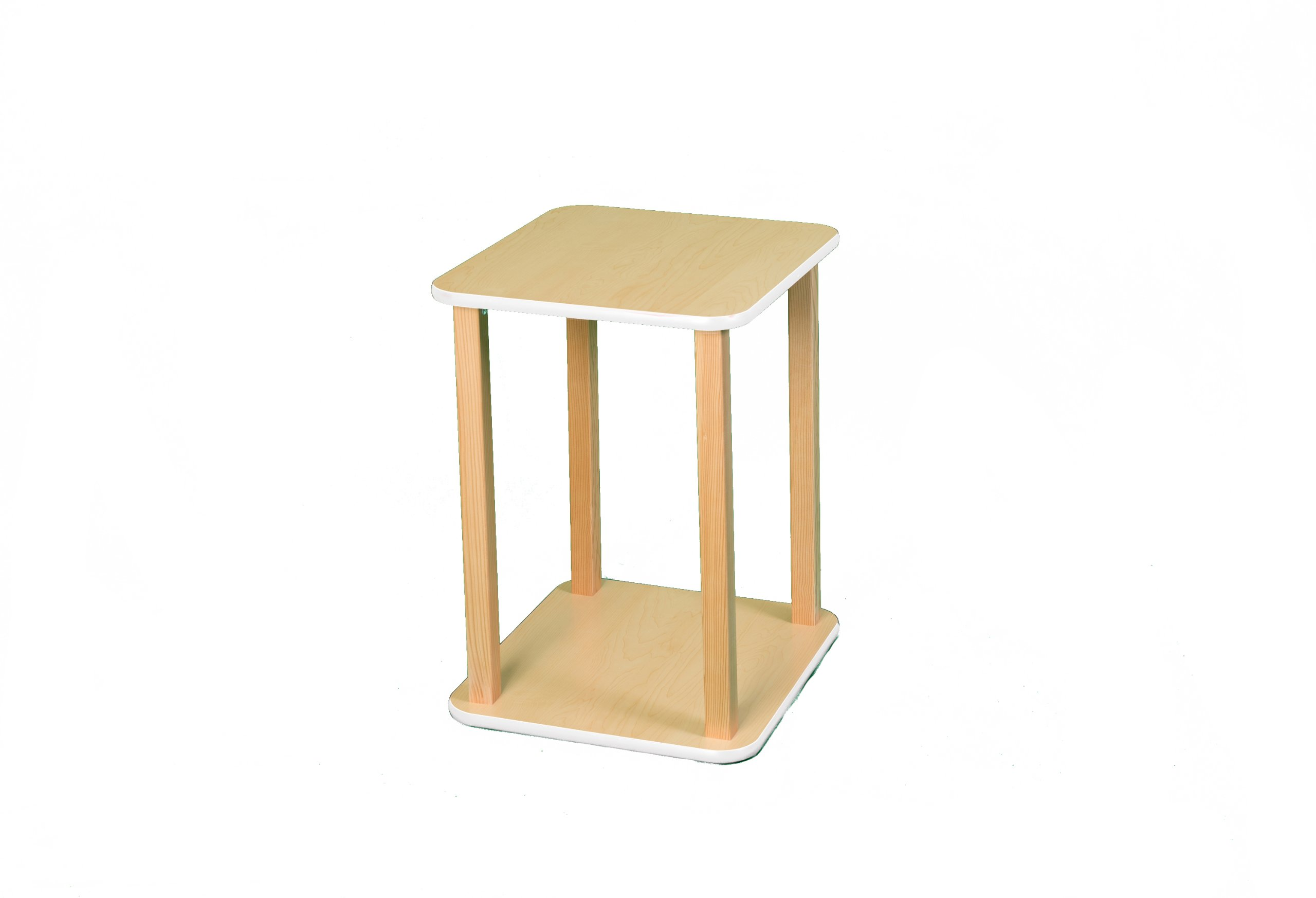 Wild Zoo Furniture CPU and Printer Stand, Maple/White