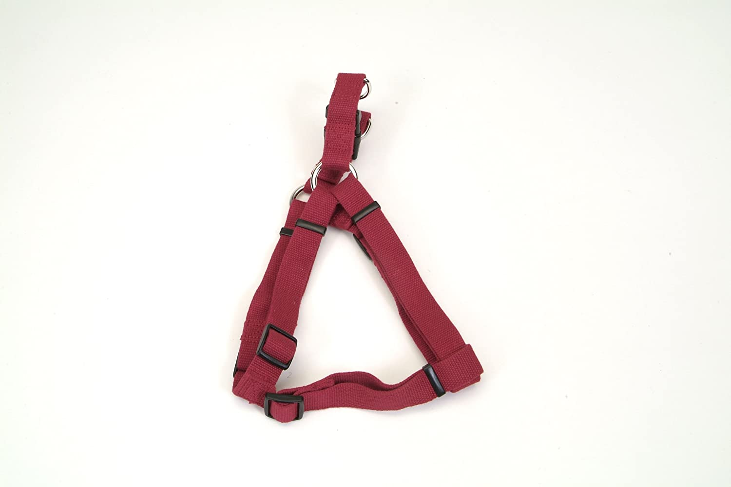 New Earth Soy Comfort Wrap Dog Harness, .625-Inch Wide, Cranberry