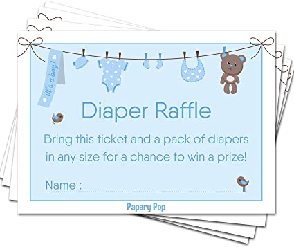 Nappy Raffle for up to 16  people Baby Shower Party Game
