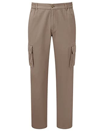 f9bd8b65cec8 Cotton Traders Mens Casual Design Regular Fit Cargo Comfort Trousers 79cm   Amazon.co.uk  Clothing