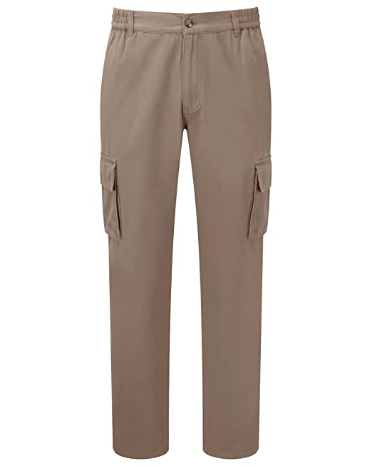 febd2bd2fc68 Cotton Traders Mens Casual Design Regular Fit Cargo Comfort Trousers  68.5cm  Amazon.co.uk  Clothing