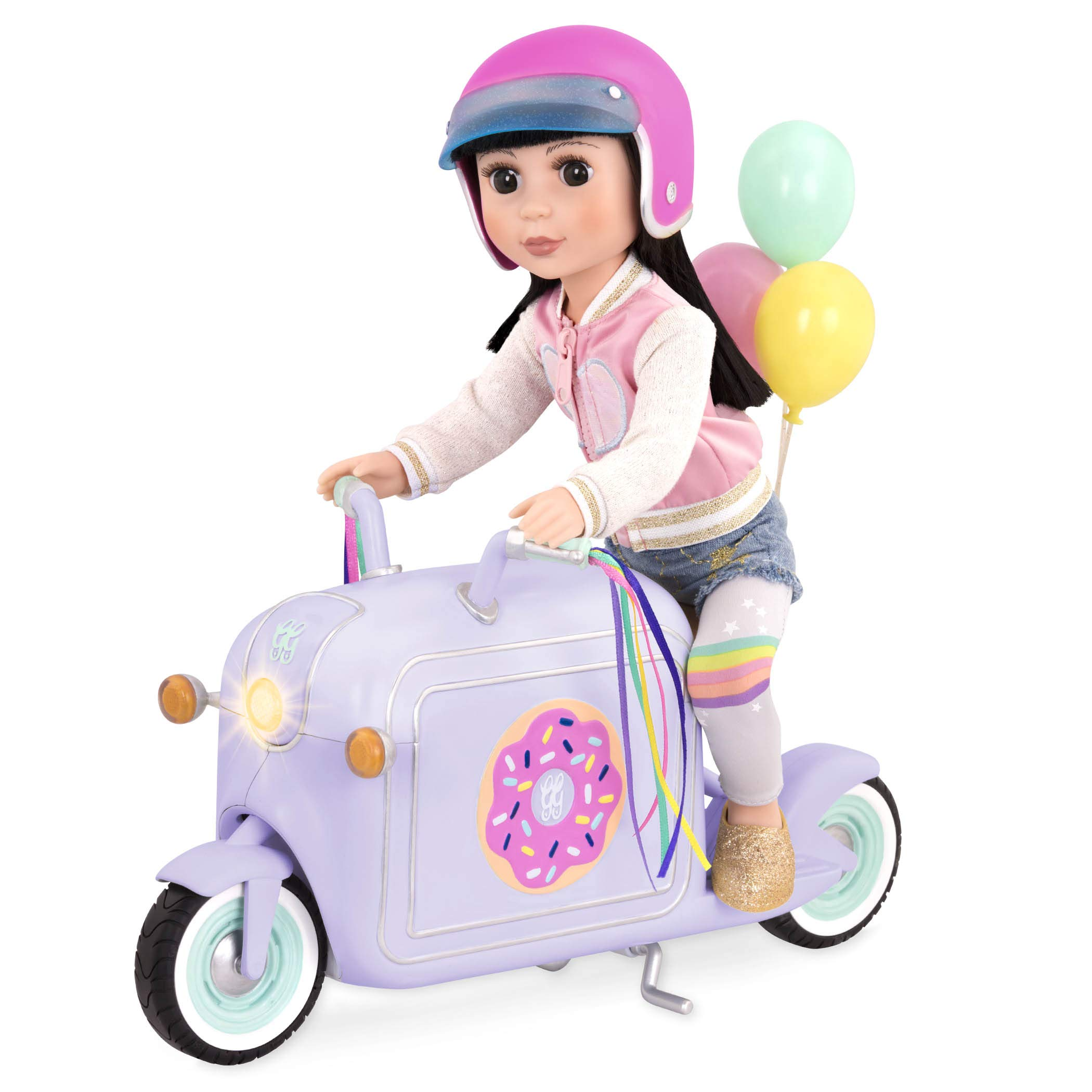Glitter Girls by Battat – Donut Delivery Scooter for 14-inch Dolls - Toys, Clothes and Accessories For Girls 3-Year-Old and Up
