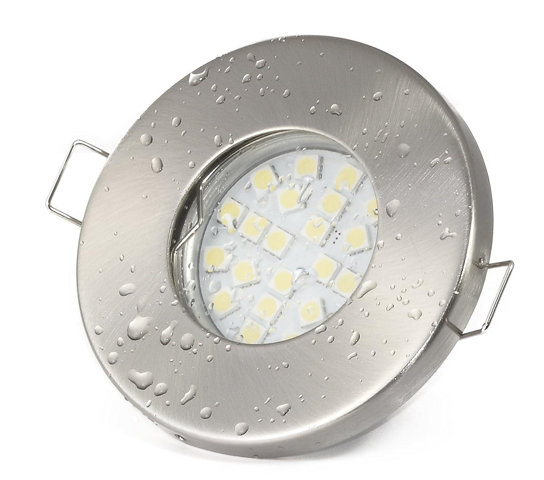 set di faretti da incasso ip65 acciaio inox spazzolato doccia sauna bagno