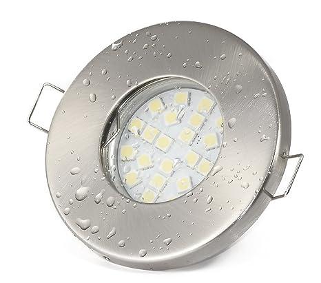 Set de focos empotrables LED, IP65, de aspecto de acero inoxidable cepillado, para ducha, Sauna, ...