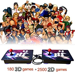 XFUNY. Home Arcade Game Console 2680 Retro HD Games in 1 Pandora Treasure II 2 Players Arcade Machine with Arcade Joystick for TV / Laptop / PC / PS4 / Switch (Colorful A)