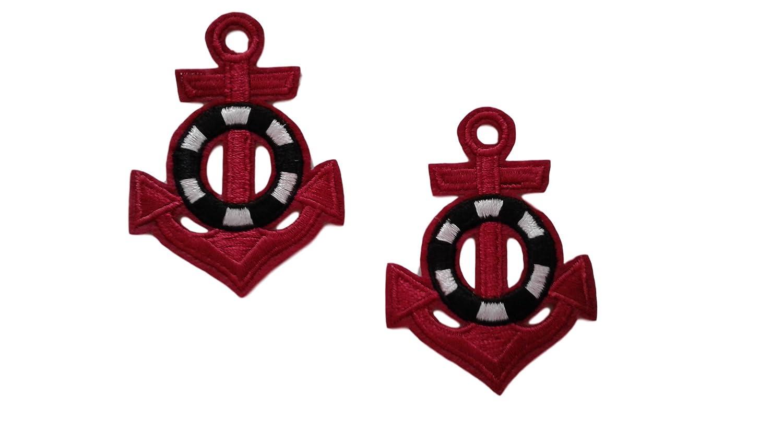 Amazon.com: 2 pieces anchor iron on patch biker motif navy applique