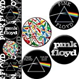 "Licenses Products Pink Floyd Dark Side of The Wall Assorted Artworks 1.25"" Button Set, 4-Piece"