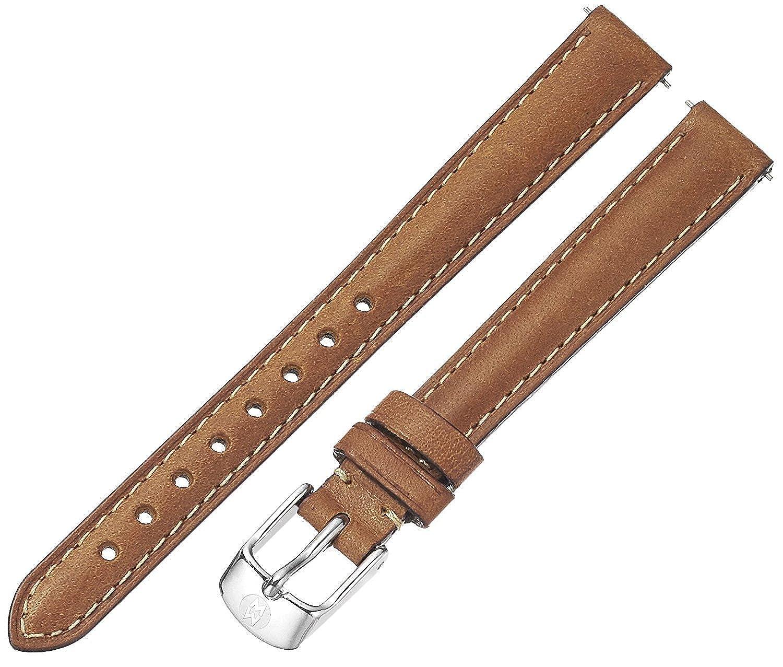 [ミッシェル] Michele 腕時計 ベルト Women's '12mm Straps' Leather Watch Band, Color:Brown MS12AA270216 レディース 【並行輸入品】  B0775X1DW3