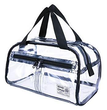 055b0b68845c Rough Enough NFL Stadium Approved Durable Fashion Clear Travel Toiletry Bag  Transparent Makeup Case Cosmetic Pouch Bathroom Accessories Beach Shower ...