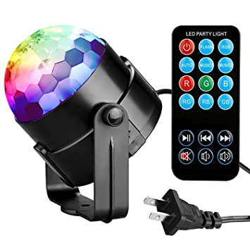 Amazoncom Party Lights Disco Ball Tabiger Disco Lights DJ Light - Childrens disco lights bedroom