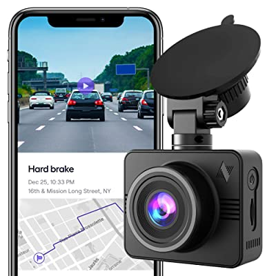 Nexar Beam Full HD 1080p Dash Cam | New 2020 Model | 32 GB SD Card Included | WiFi | Unlimited Cloud Storage: Car Electronics