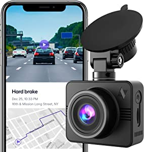 Nexar Beam Full HD 1080p Dash Cam | New 2020 Model | 32 GB SD Card Included | WiFi | Unlimited Cloud Storage