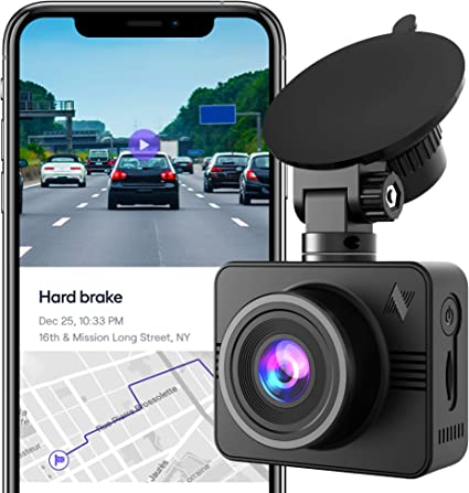 32 GB SD Card Included WiFi Nexar Light Full HD 1080p Dash Cam Unlimited Cloud Storage