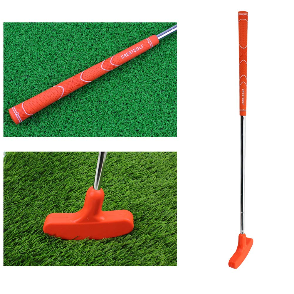 Kofull Junior Mini Golf Putter, 27 inch Rubber Double Way Both Right Handed Left Handed for Kids Height of 35.43-43.31 inch Ages 6-8