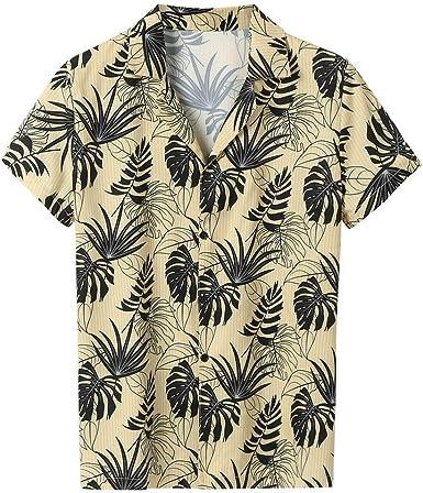 Camisas de Hombre T Shirt tee Camiseta de Moda Verano Rayas Ocasionales Blusa Manga Corta con Solapa Suelto: Amazon.es: Ropa y accesorios