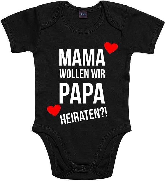 "Babybody Modell /""Papa heiraten/"" 100/% Baumwolle Kinder"
