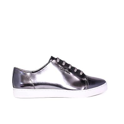 3e32ec2de9 Calvin Klein Women's Trainers Silver silver: Amazon.co.uk: Shoes & Bags
