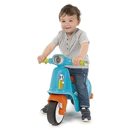 Correpasillos Scooter azul con ruedas silenciosas (Smoby 721001): Amazon.es: Juguetes y juegos