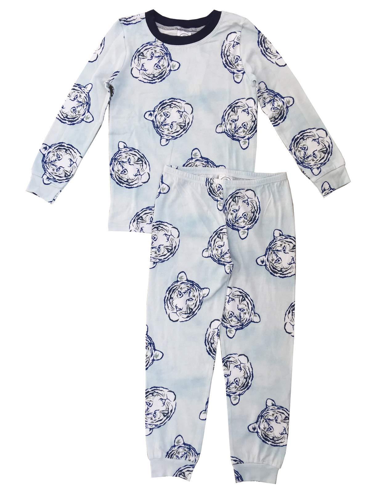 Esme Boys Pajamas Crew Neck Long Sleeve Pant Set 6 Tiger