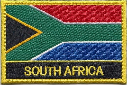 Bandera de Sudáfrica parche rectangular bordado insignia/Sew ...