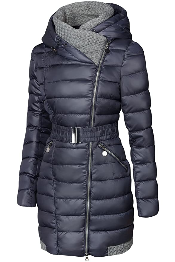 Jacke DAUNEN GROßE S'West Optik STEPP KAPUTE Winter Damen Kragen Mantel LANG Parka DHI2E9W