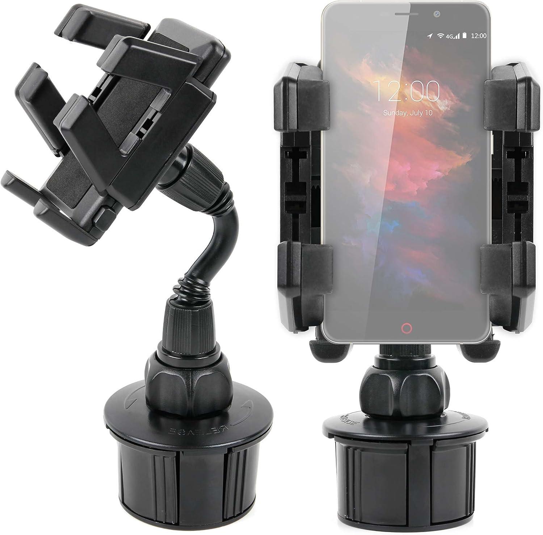 DURAGADGET Soporte Giratorio para Portavasos del Coche para Smartphone Umidigi UMI MAX- ¡Tenga Su Smartphone Siempre A Mano!: Amazon.es: Electrónica