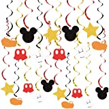 20 PCS Mouse Hanging Swirls Decorations, Mouse Hanging Swirls Ceiling Streamer Decoration for Baby Shower Birthday Party Mous