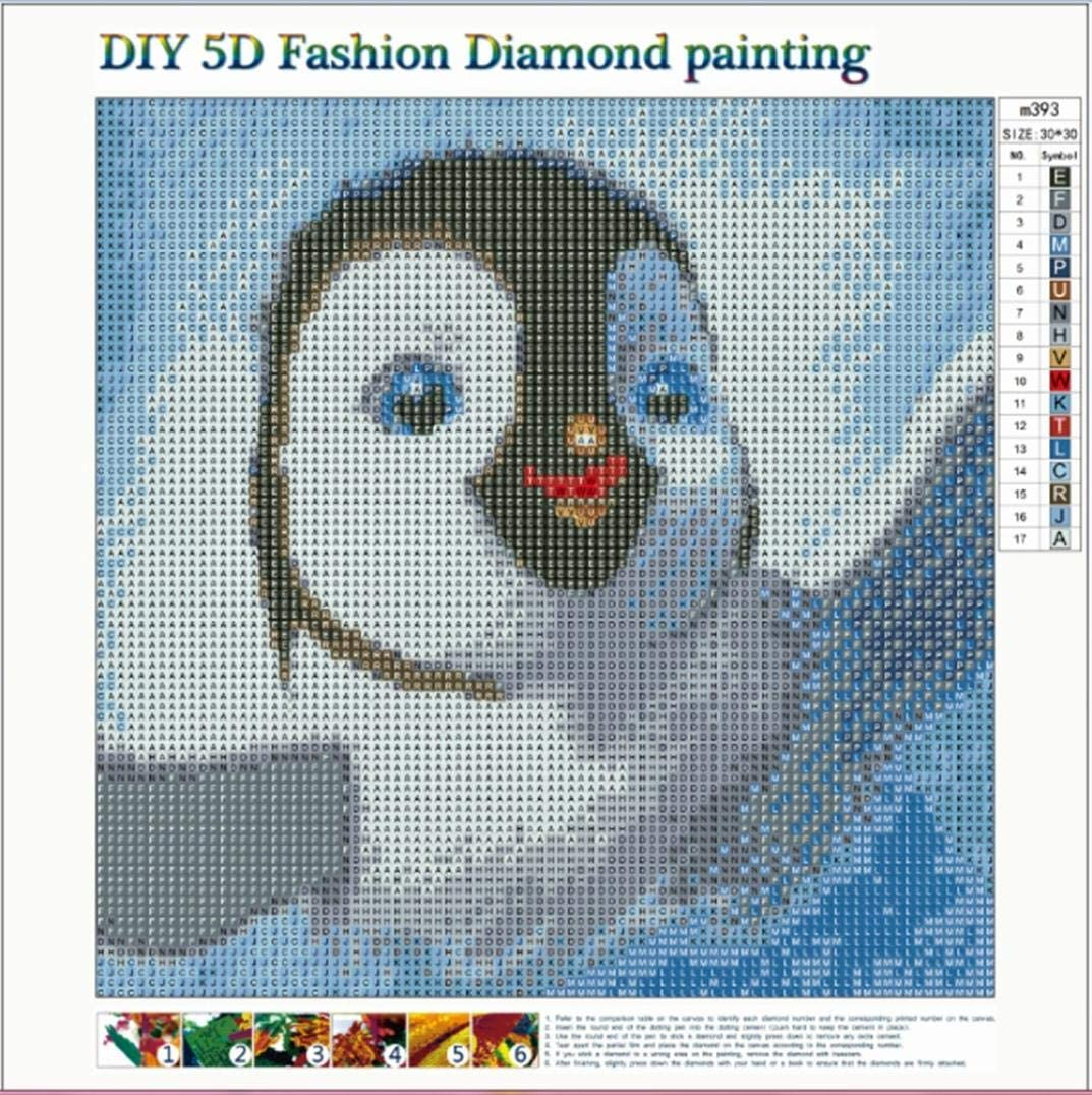 Lavany 5D Diamond Painting By Number Kit,Penguin Full Drill DIY Embroidery Cross Stitch 5D Paintings Crystal Rhinestone Cross-Stitch Stamped Kits Clearance Penguin❤