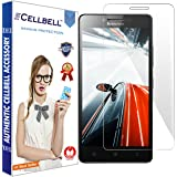 Cellbell Tempered Glass Screen Protector Bronze Edition For Lenovo A6000/A6000 Plus, Transparent