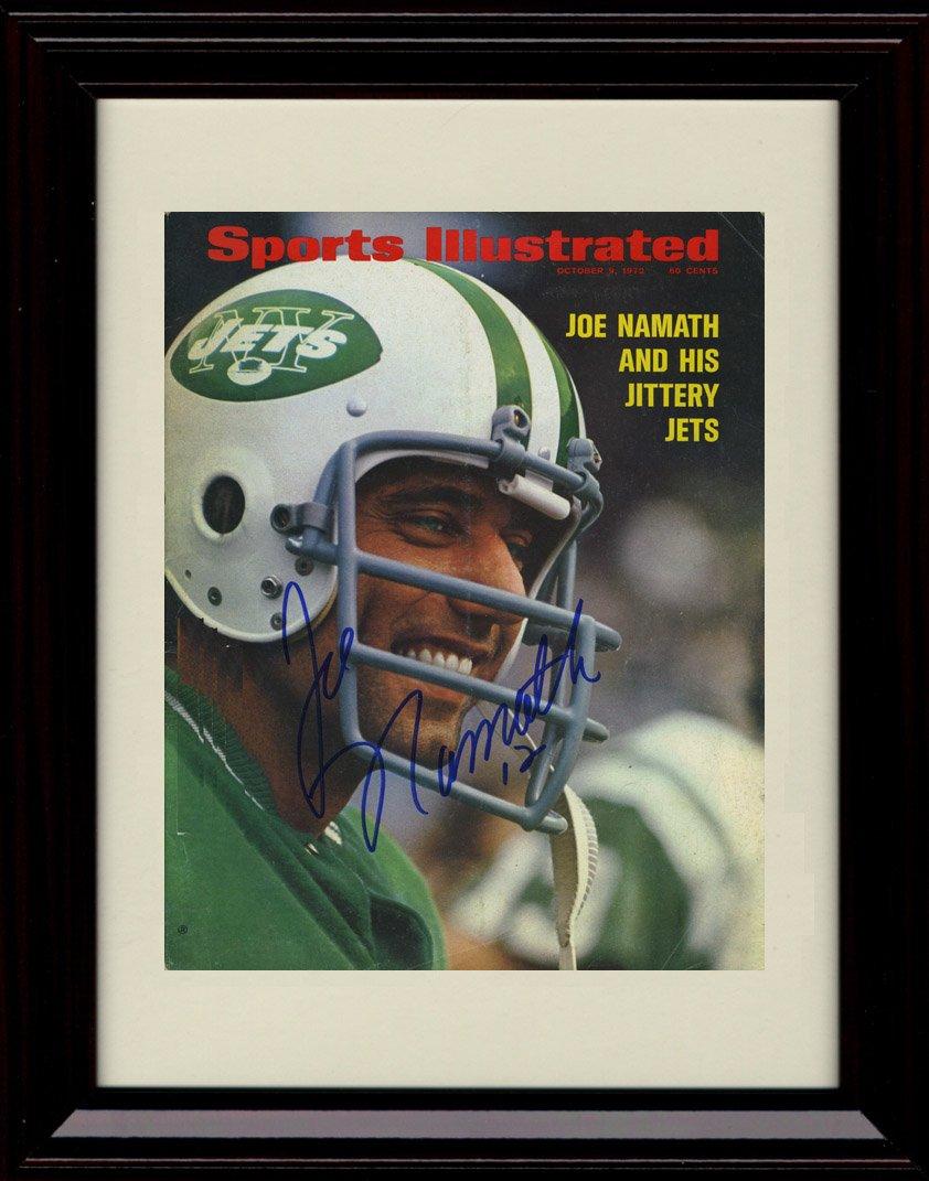 Framed Joe Namath Sports Illustrated Autographレプリカ印刷 – 10 / 9 / 1973   B01N1H81EP