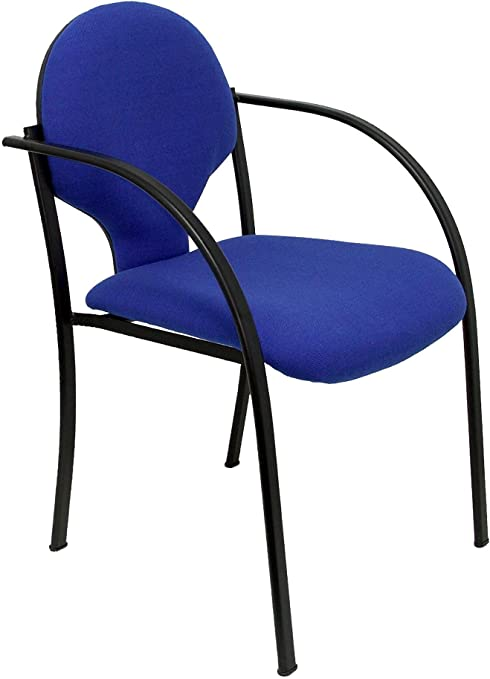 Piqueras Y Crespo (PIQU7) Pack 2 sillas Hellin chasis Negro Aran Azul Oficina, Talla Unica: Amazon.es: Hogar