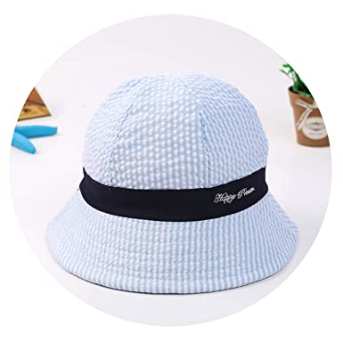 34a20188c23ec Cotton Baby Summer Hat Children Bucket Hat Baby Caps for Boys Girls Stripe Letter  Sun Cap