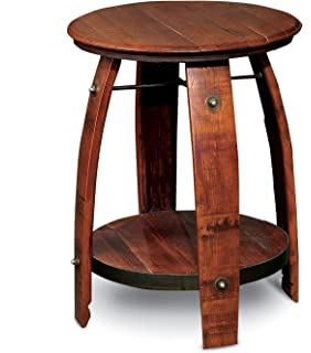 Amazon Com 2 Day Designs Reclaimed 28 Inch Stave Wine Barrel Bar
