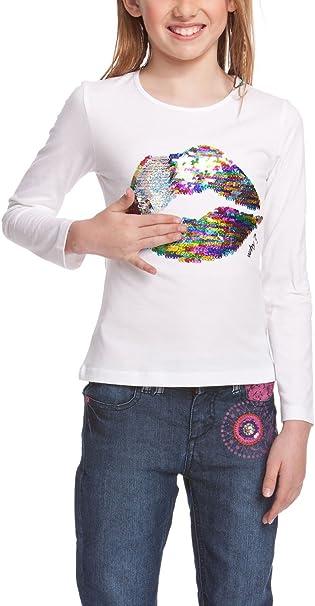 Desigual Kids 47t3013 niña manga larga camiseta, móviles