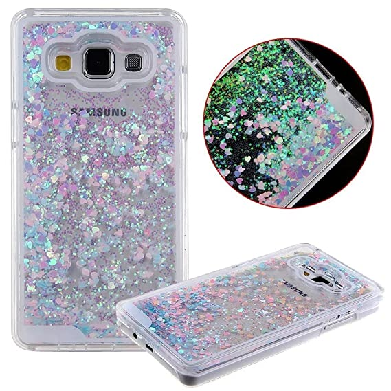 differently 4a3b3 f9910 Amazon.com: Galaxy A5 (2015) Case, QKKE Quicksand 3D Glitter Bling ...