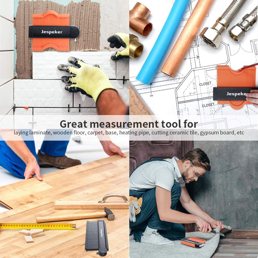 Firares Ultra-precise Smooth Shape Contour Gauge with Lock Tiles and Laminate 5 /& 10Shape Duplicator tool set Error /±0.5 Inch for Woodworking DIY Handyman Easy Master Outline Corners