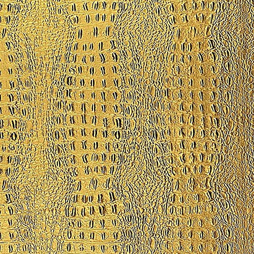 WallFace 14300 CROCO Wall panel leather 3D interior decor luxury wallcovering decoration self-adhesive gold | 2,60 sqm by Wallface (Image #5)'