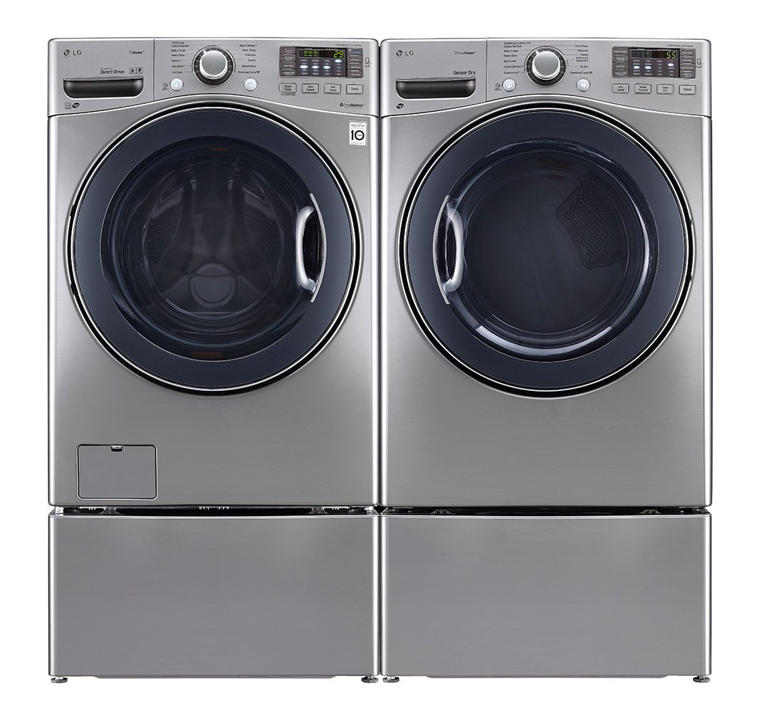 amazoncom power pair speciallg turbo series ultra large capacity laundry system with steam technology x 2 graphite steel